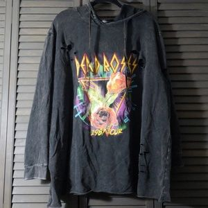 Distressed Band Hoodie